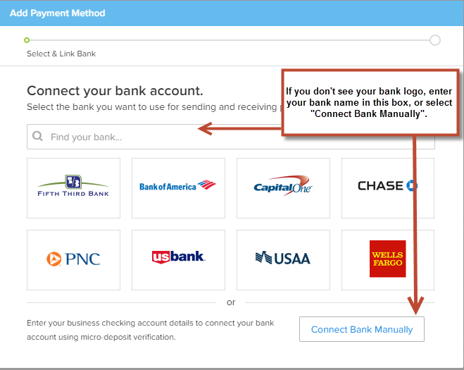 how do i register a bank account viewpost support center